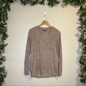 Harlowe And Graham V-Neck Sweater Brown/Tan